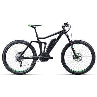 Cube Stereo Hybrid 140 HPA Race 27.5 2015, black/neongreen - E-Bike