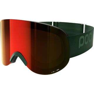 POC Lid, methane green/Lens: persimmon red mirror - Skibrille