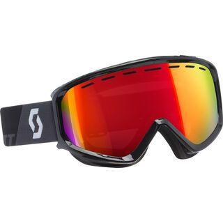Scott Level inkl. Wechselscheibe, black/Lens: amplifier red chrome - Skibrille