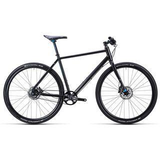 Cube Hyde Race 2015, black blue shinyblack - Urbanbike