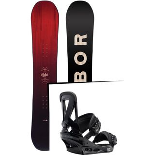 Set: Arbor Foundation 2017 + Burton Custom 2017, black - Snowboardset