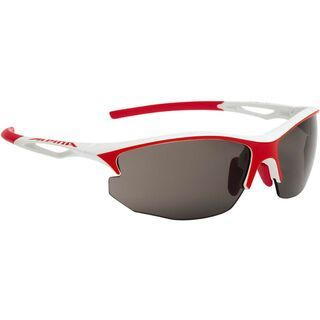 Alpina Sorcery HR C+, white-red matt/Lens: black - Sportbrille