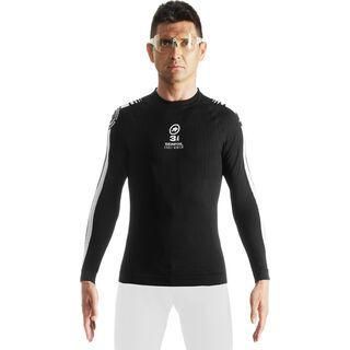 Assos LS.skinFoil earlyWinter evo7, block black - Unterhemd