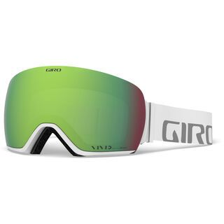 Giro Article inkl. WS, white wordmark/Lens: vivid emerald - Skibrille