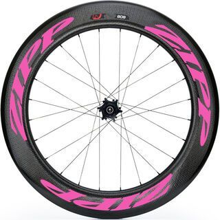 Zipp 808 Firecrest Carbon Clincher Disc-brake, schwarz/pink - Hinterrad