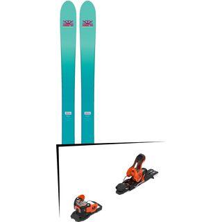 Set: DPS Skis Nina F99 Foundation 2018 + Salomon Warden 11 orange/black