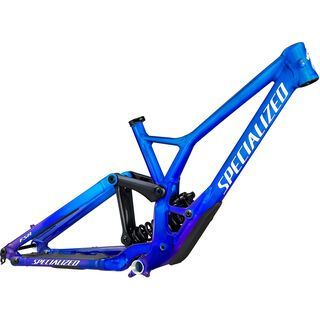 Specialized Demo Race Frame gloss cobalt/blue tint fade/metallic white silver 2021