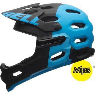 Bell Super 2R MIPS, matte black blue - Fahrradhelm