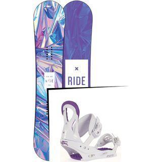 Set: Ride Compact 2017 + Burton Stiletto Disc 2017, white/purple - Snowboardset