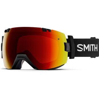 Smith I/OX inkl. Wechselscheibe, black/Lens: sun red mirror chromapop - Skibrille