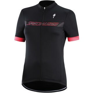 Specialized Women's RBX Sport Logo Jersey SS, black/pink - Radtrikot