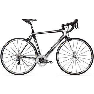 Cannondale Synapse Hi-Mod 3 Ultegra Compact 2013, exposed carbon w/ fine silver magnesium white matte - Rennrad