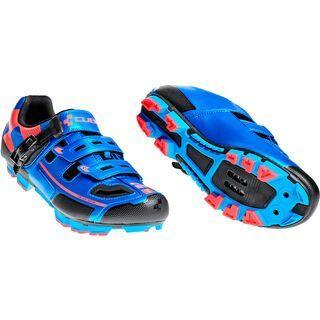 Cube Schuhe MTB Pro, blue´n´flashred
