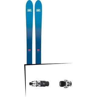 Set: DPS Skis Wailer F106 Foundation 2018 + Atomic Warden MNC 13 gun metal/white