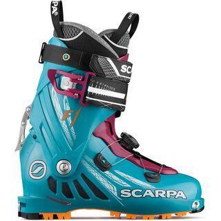 Scarpa F1 Wmn 2018, arctic blue/purple - Skiboots