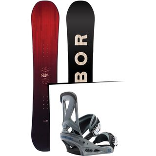 Set: Arbor Foundation 2017 + Burton Custom 2017, grayshark - Snowboardset