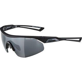 Alpina Nylos Shield, black matt/Lens: ceramic mirror black - Sportbrille
