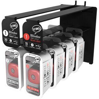 Knog Blinder 1 Standard Slatwall Display 2013, rot - Display