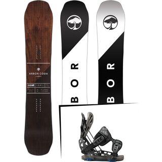 Set: Arbor Coda Camber 2017 + Flow NX2-GT 2017, black - Snowboardset