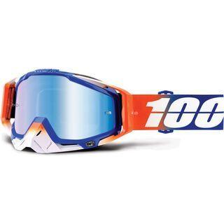 100% Racecraft inkl. Wechselscheibe, roxburry/Lens: mirror blue - MX Brille