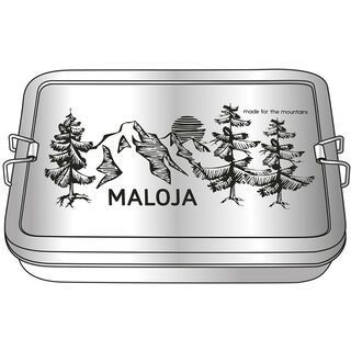 Maloja PlatzeranM. Camping Lunchbox, silver