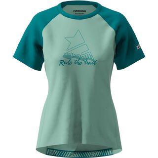 Zimtstern PureFlowz Shirt SS Women's, green/pacific green/blush - Radtrikot