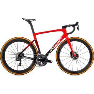 Specialized S-Works Tarmac SL7 Dura Ace Di2 flo red/tarmac black/white 2021