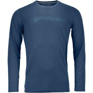 Ortovox 185 Merino Mountain Long Sleeve M, night blue - Unterhemd