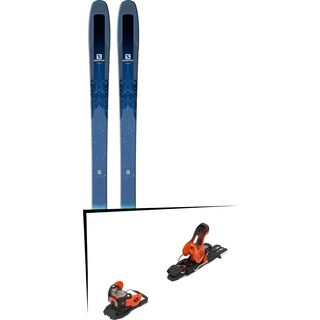 Set: Salomon QST Lux 92 2018 + Salomon Warden 11 orange/black