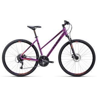 Cube Curve Pro Trapeze 2015, purple black flashred - Fitnessbike