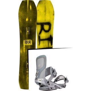 Set: Ride Warpig Small 2017 + Ride Rodeo LTD 2016, silver - Snowboardset