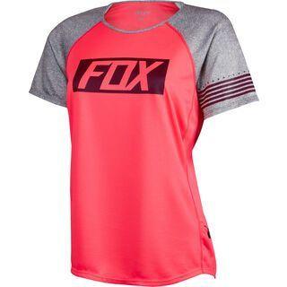 Fox Womens Ripley SS Jersey, neon red - Radtrikot