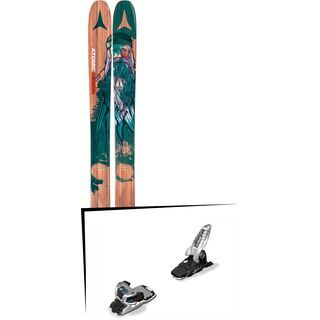 Set: Atomic Backland Bent Chetler 2017 + Marker Griffon 13 136 mm, white/black/teal - Skiset