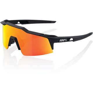100% Speedcraft Small, soft tact black/Lens: hiper red mulitlayer mirror - Sportbrille