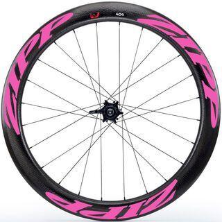 Zipp 404 Firecrest Tubular Disc-brake, schwarz/pink - Hinterrad
