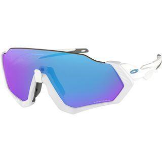 Oakley Flight Jacket Prizm, polished white/Lens: prizm sapphire - Sportbrille