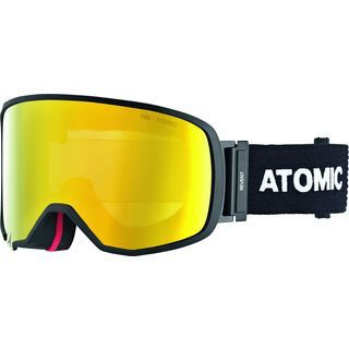 *** 2. Wahl *** Atomic Revent L FDL Stereo OTG, black/Lens: yellow stereo - Skibrille |
