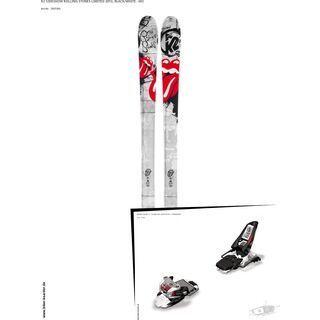K2 SKI Set: Sideshow Rolling Stones Limited 2013 + Marker Squire 11