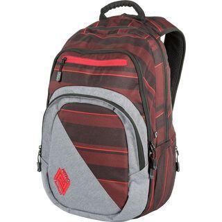 Nitro Stash, red stripes - Rucksack