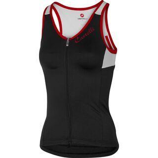 Castelli Solare Top, black/white/red - Radtrikot