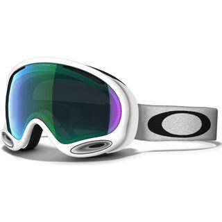 Oakley A Frame 2.0, Polished White/Jade Iridium - Skibrille