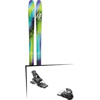 Set: K2 SKI Fulluvit 95 2017 + Tyrolia Attack 16 ohne Bremse, solid black - Skiset