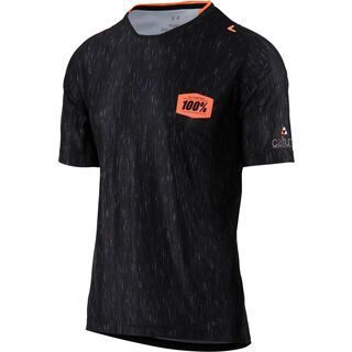 100% Celium AM Jersey, black heather - Radtrikot