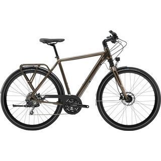 Cannondale Tesoro 1 2018, matt black/brown - Trekkingrad