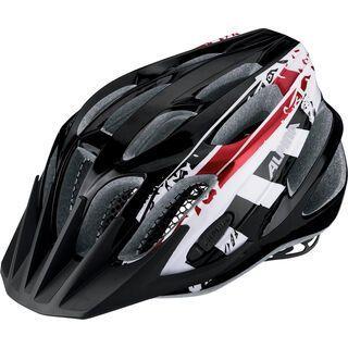 Alpina FB Jr. 2.0, black-white-red - Fahrradhelm