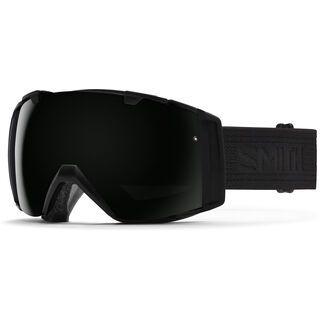 Smith I/O inkl. Wechselscheibe, black/black/Lens: blackout - Skibrille