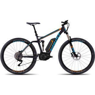 Ghost Teru FS 9 2016, black/blue/orange - E-Bike