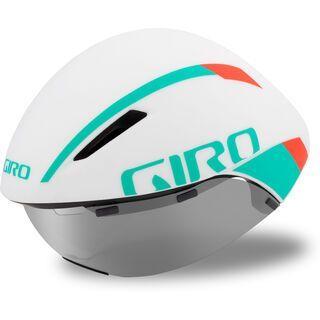 Giro Aerohead MIPS, white/turquoise/vermillion - Fahrradhelm