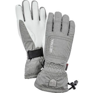 Hestra CZone Powder Female 5 Finger, light grey/offwhite - Skihandschuhe