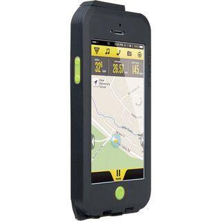 Topeak Weatherproof RideCase iPhone 5 mit Halter, black/green - Schutzhülle